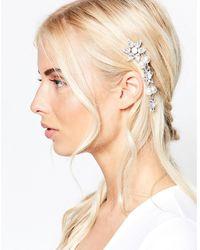 Krystal - Swarovski Crystal Graduated Star Mix Clip With Pearls - Lyst