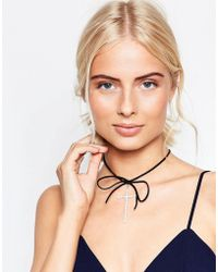 Krystal Swarovski Crystal Skinny Cross On Bow Choker Necklace - Multicolor