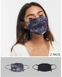 Skinnydip London – Exklusive Gesichtsmasken mit verstellbaren Riemen im 2er-Pack - Schwarz