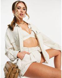 ASOS - Linen Suit Shacket - Lyst