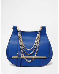 Little Mistress - Shoulder Bag With Chain Detail - Lyst
