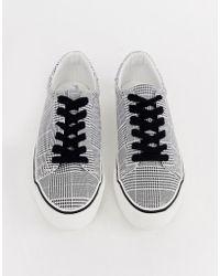 285f5f107d7 ASOS White X Reebok Princess Sneakers In Velvet in Blue - Lyst