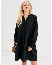 ONLY Cotton Smock Mini Dress - Black