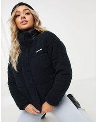 Columbia Черная Флисовая Куртка Lodge-черный - Многоцветный
