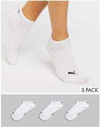 PUMA – 3 Paar extrakurze weiße Sneakersocken