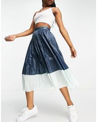 adidas Originals Midi Pleated Skirt - Blue