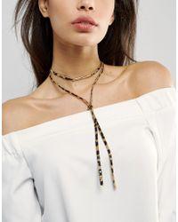 ASOS Animal Print Choker Necklace - Multicolour