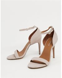 Reiss Paula Stiletto Heeled Sandals - Natural