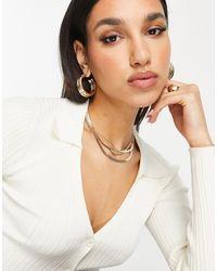 ASOS - Multirow Necklace - Lyst