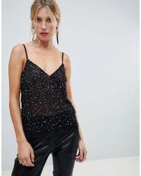 ASOS Cami Top With Sequin Embellishment - Black