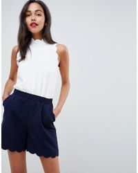 Ted Baker - High Neck Scalloped Playsuit - Lyst