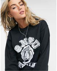 TOPSHOP Collegiate Sweatshirt - Black