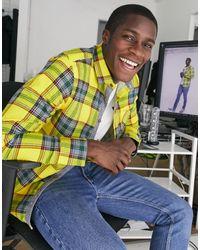 Brave Soul Tartan Check Flannel Shirt - Yellow