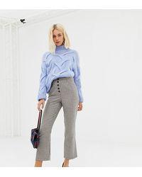 Miss Selfridge Kickflare Crop Trousers - Brown