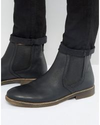 Red Tape - Chelsea Boots In Black Leather - Lyst