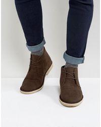 ASOS ASOS - Desert boots imitation daim - Marron
