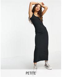 Vero Moda Черное Трикотажное Платье Макси Из Смесового Органического Хлопка -черный Цвет