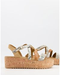 Call It Spring Haylo Strappy Wedge Sandals - Multicolour