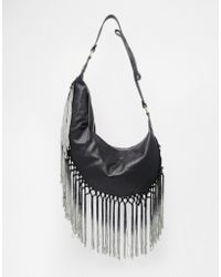 Gracie Roberts - Touch Of Gray Tassel Hobo Bag - Lyst