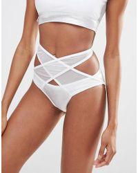 Quontum - Mesh Wrap Bikini Bottom - Lyst