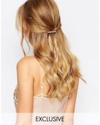 Olivia The Wolf - Rose Gold Chain Comb - Lyst