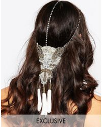 Olivia The Wolf - Olivia & The Wolf Beaded Applique Crystal Halo Headband - Lyst