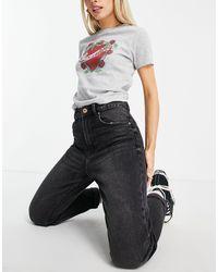 Bershka Petite - Mom Jeans - Zwart