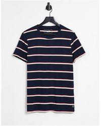 Tom Tailor T-shirt In Multi Stripe In Navy - Blue