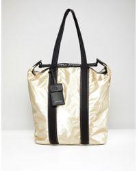 Calvin Klein - Metallic Shopper Bag - Lyst