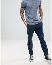Hollister | Slim Fit Chinos In Navy | Lyst