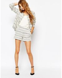 Suncoo - Shorts In Zigzag - Lyst