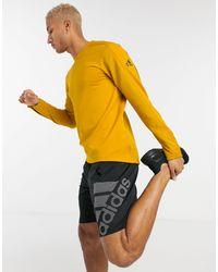 adidas Originals Желтый Свитшот Adidas Training Cold Rdy