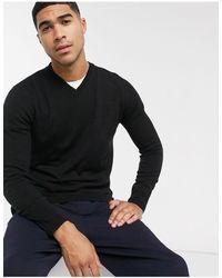 Rudie V Neck Sweater - Black
