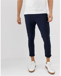 ASOS Superskinny Cropped Chino's - Blauw