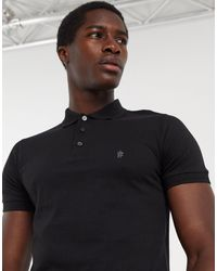 French Connection Essentials Polo - Black