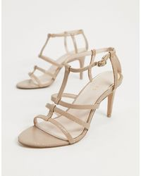 Reiss Harlow Caged Heeled Sandals - Natural