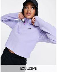 The North Face Укороченный Сиреневый Топ Из Флиса 100 – Эксклюзивно Для Asos-фиолетовый Цвет - Пурпурный