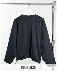 adidas Originals - Черный Укороченный Свитшот С Затяжками Adidas Training Plus - Lyst