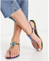 ASOS - Fulfil Hardware Flat Sandals - Lyst