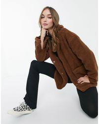 Brave Soul Куртка Из Искусственного Меха Kelsea-коричневый