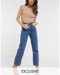 Reclaimed (vintage) Inspired Straight Jean - Blue