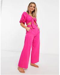 Fashion Union Розовые Пляжные Брюки От Комплекта Penelope-розовый