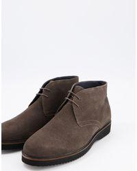 Schuh Замшевые Ботинки Чукка Темно-серого Цвета Griffin-серый