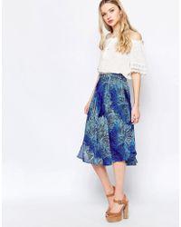 Sister Jane Puff Cloud Midi Skirt - Blue