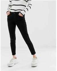 Bershka Cropped Skinny Jean - Black
