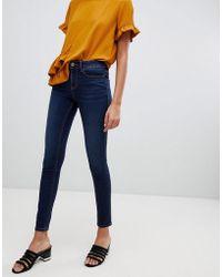Vila - Skinny Denim Jeans In Blue - Lyst