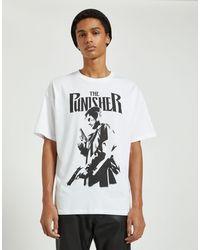 Pull&Bear Punisher - T-shirt - Blanc