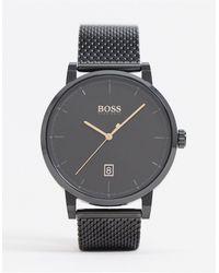 BOSS by Hugo Boss Черные Часы С Сетчатым Ремешком 1513810-черный