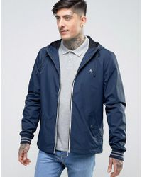 Original Penguin - Lightweight Jacket Hooded Nylon In Navy - Lyst