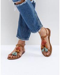 Pull&Bear - Multi Tassle Sandal In Multi - Lyst